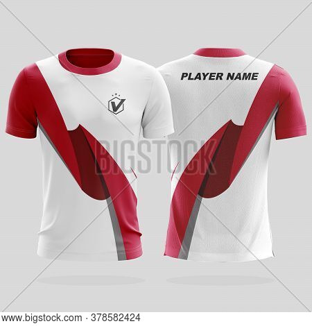 Specification Soccer Sport Mockup , Esports Gaming T Shirt Jersey Template