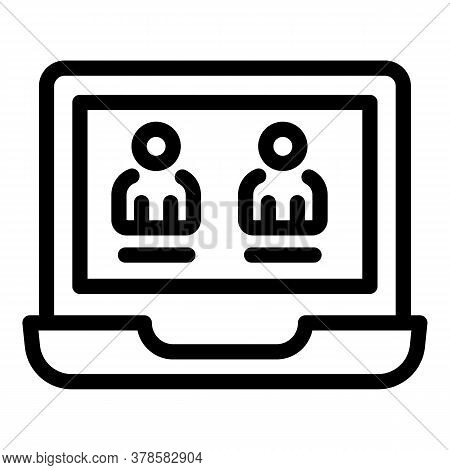 Laptop Personal Information Icon. Outline Laptop Personal Information Vector Icon For Web Design Iso