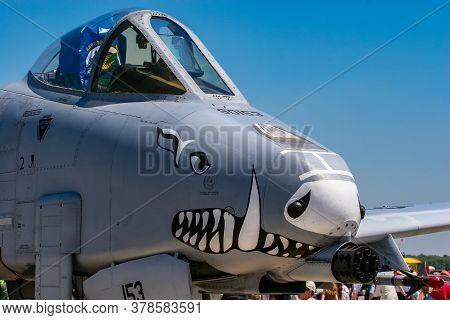Barksdale, Usa - April 22, 2007: A-10a Thunderbolt Ii Aircraft From 47th Fighter Squadron At Barksda