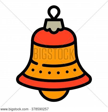 Christmas Red Bell Tree Toy Icon. Outline Christmas Red Bell Tree Toy Vector Icon For Web Design Iso