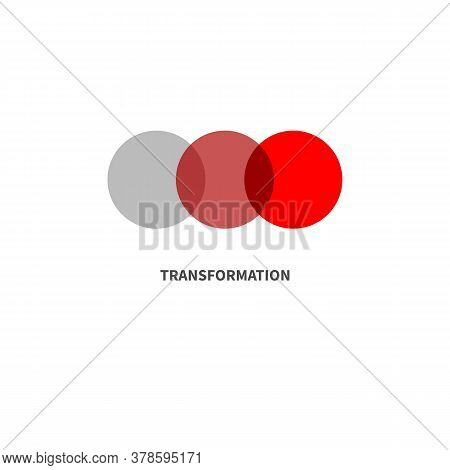 Transformation Minimal Abstract Color Logo With Circles. Symbol Of Change, Evolution Or Development