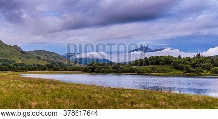 Low Clouds And Mist Over Loch Awe At Twilight On A Summers Night In Argyll, Scotland
