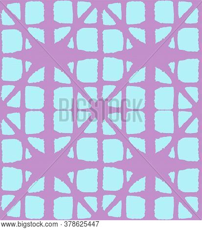Japanese Tie Dye Seamless Pattern. Retro Shibori Seamless Pattern. Geometric Bohemian Asian Tie Dye