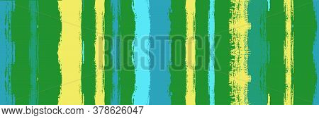 Funky Vertical Stripes Seamless Background. Watercolor Lines Design. Autumn Winter Trendy Fashion Te