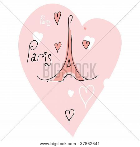 vector illustration I love paris