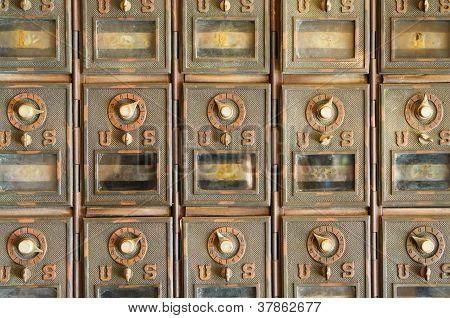 Vintage Mail Pigeonholes