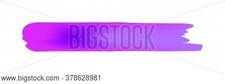 Purple Brush Marks Isolated On White, Brushstroke Purple For Watercolor Paint Idea, Watercolor Brush