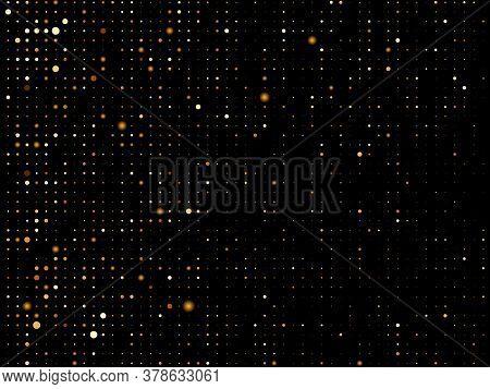 Golden Blots Grunge Urban Background. Texture Vector. Dust Overlay Distress Grain. Gold Paint Splatt