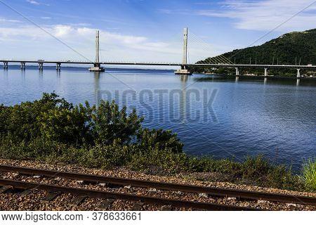 Anita Garibaldi Bridge Located In The City Of Laguna In The Southern State Of Santa Catarina Brazil,