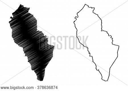 Las Pinas City (republic Of The Philippines, Metro Manila, National Capital Region) Map Vector Illus
