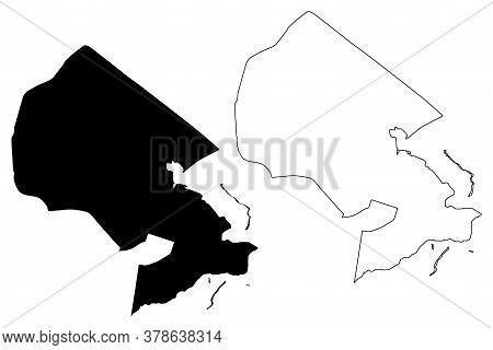Brasilia City (federative Republic Of Brazil, Federal District) Map Vector Illustration, Scribble Sk