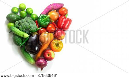 Heart Of Fruits And Vegetables,fresh Vegetables And Fruits,colorful Fruits And Vegetables,clean Eati