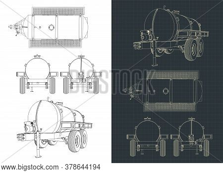 Water Tank Trailer Drawings