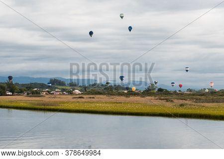 International Balloon Festival In The City Of Torres, State Of Rio Grande Do Sul Brazil