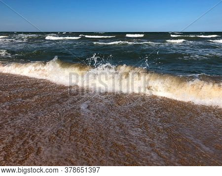 Beautiful Sea Waves - Seascape. Summer Breeze - Sea Background