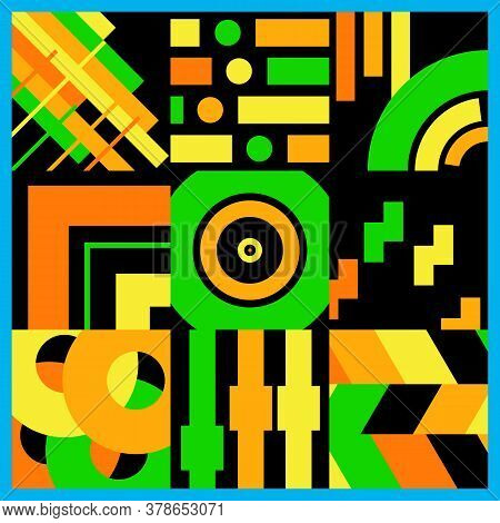Abstract Decorative Vector Fluorescent Bright Colors Background