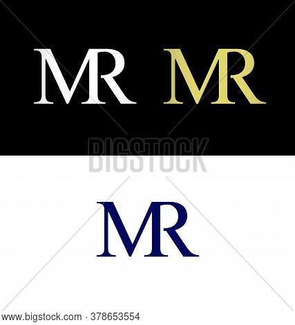 Letter M And Letter R Logo, Mr Initials, Mr Logo