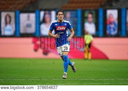 Milano (italy) 28th July 2020. Italian Serie A. Fc Internazionale Vs Ssc Napoli. Piotr Zielinski Of