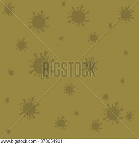 Virus. Abstract Vector Microbe. Computer Virus, Allergy Bacteria, Medical.