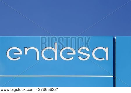 Roanne, France - May 31, 2020: Endesa Logo On A Panel. Endesa Is The Largest Electric Utility Compan
