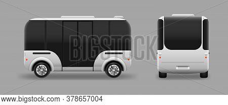 Driverless Electric Future Transport. Autonomous Vehicle Self Driving Machine