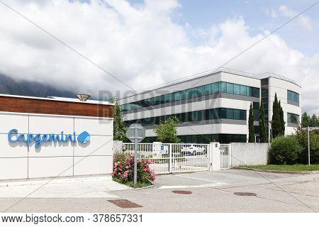 Montbonnot, France - June 15, 2019: Capgemini Office Building. Capgemini Is A French Multinational P