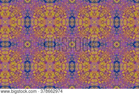 Portuguese Decorative Tiles. Violet Botanical Oriental Surface. Portuguese Decorative Tiles Backgrou