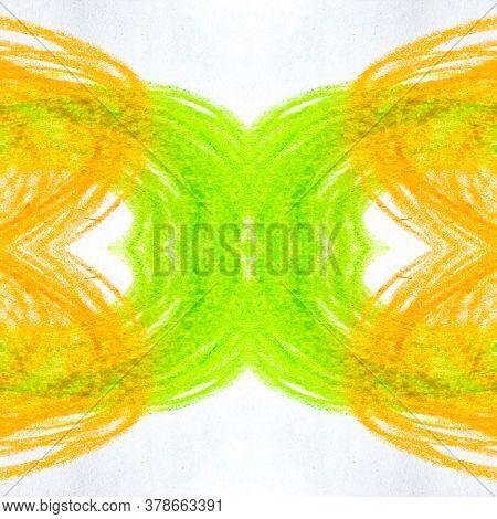 Colored Round,square, Triangular Design Elements. Energy Cell Card. Paintbrush Happiness Topography