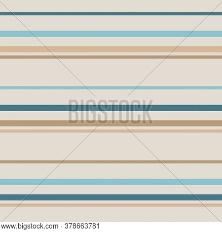 Horizontal Stripes Seamless Pattern. Simple Vector Texture With Thin And Thick Lines. Abstract Geome