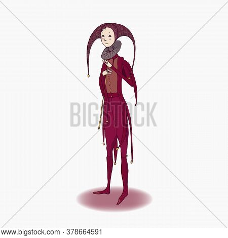 Fairy Tale Character. Young Man. On A White Background.