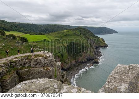 Landscape Photo Of The Valley Of The Rocks In Exmoor National Park