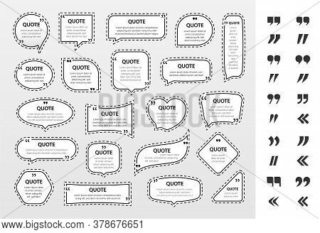 Quote Frames Textboxes With Punctuation Marks Vector