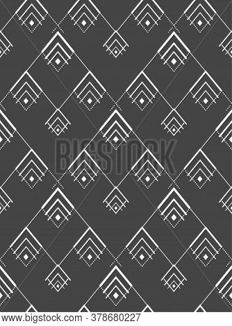 Repetitive Creative Vector 20s Plexus Pattern. Seamless Line Graphic Thirties Grid Texture. Continuo