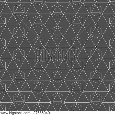 Continuous Fashion Vector Web, Lattice Texture. Repetitive Decorative Graphic Continuous Shapes Patt