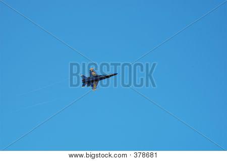 Solo Blue Angel Blue Sky