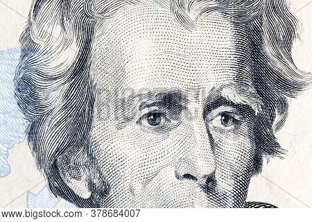 Twenty Dollars Close Up Of American Currency Freely Convertible Currency Of The United States