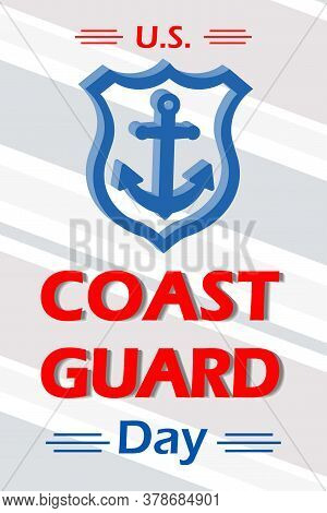 United States Coast Guard Day. Federal Holiday Celebrated Annually On 4 August. Marine Style Banner