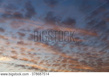 Landscape In Nature During Sunset Or Dawn, Natural Phenomena, The Sun At Sunset Or Dawn Changes Colo