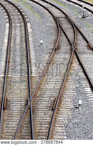 The Railway Goes On The Ground And Is Built Of High-quality Metal Alloy Rails, Sleepers Make For Str