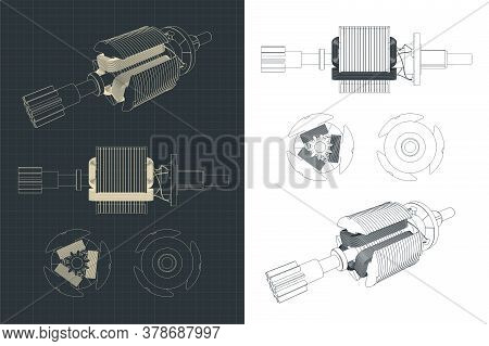 Dc Motor Rotor Drawings