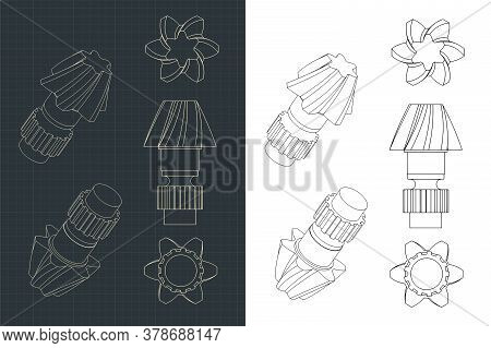 Helical Gear Dawings