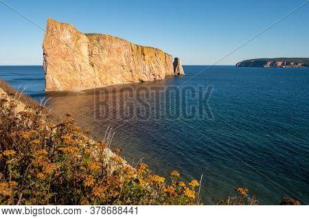 Rocher Perce Rock In Gaspe Peninsula, Quebec, Gaspesie, Canada