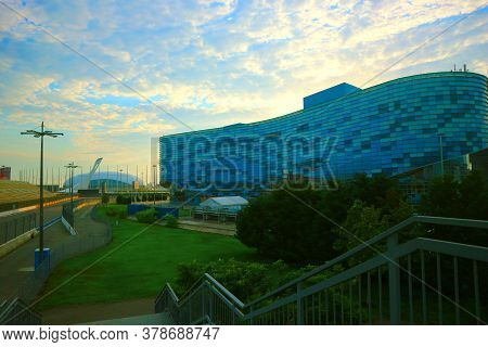 Sochi, Russia - Juny 13, 2020. Iceberg Skating Palace Which Was Used During The 2014 Winter Olympics