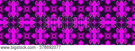 Blue Magenta. Batik Patchwork Palm Fluorescent Backdrop. Blue Magenta Background. Magenta Iran Batik