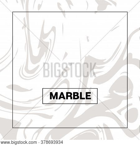 Gray Marble Texture, Funky Square Ink Wash Background. Fluid Paint Suminagashi Modern Pattern For We