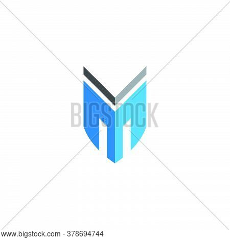 M Letter Icon Template Vector