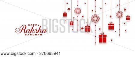 Happy Raksha Bandhan Indian Festival Wide Banner Design