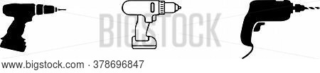 Drill Vector Illustration On  Background Vector, Web, Woodworker, Woodworking, Work, Workshop