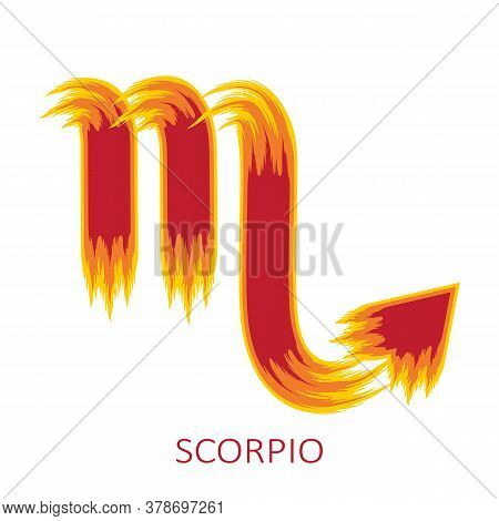 Zodiac Sign Scorpio Isolated On White Background. Zodiac Constellation. Design Element For Horoscope