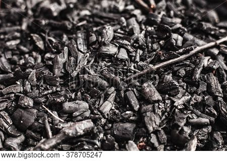 Coal Mining. Black Coals For Background. Coals Mining Or Energy Source, Environment Protection. Volc